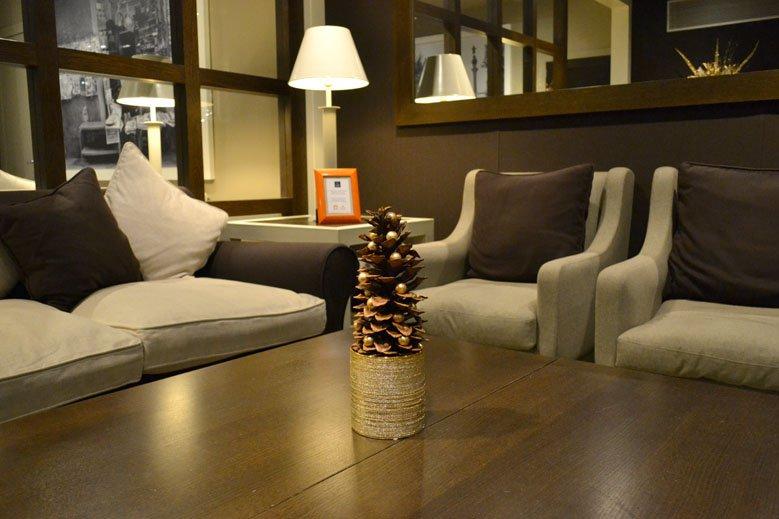 Centro de Navidad mesa hotel 4 estrellas en las ramblas de Barcelona