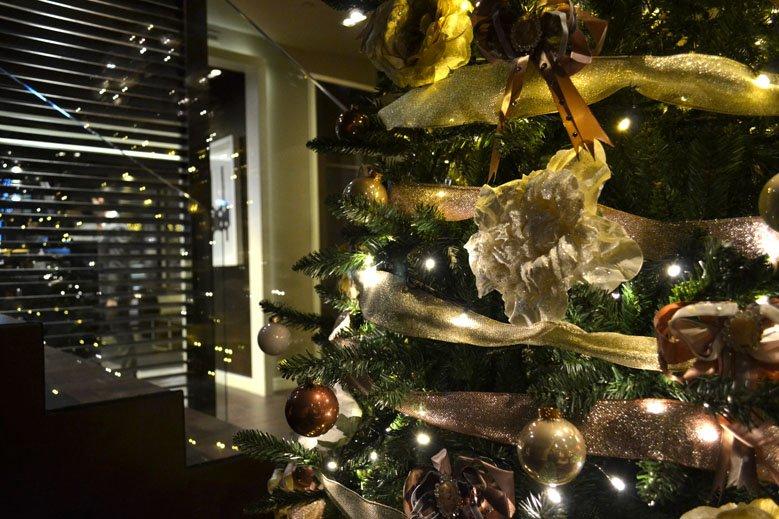 Decoración navideña hotel 4 estrellas en las ramblas de Barcelona