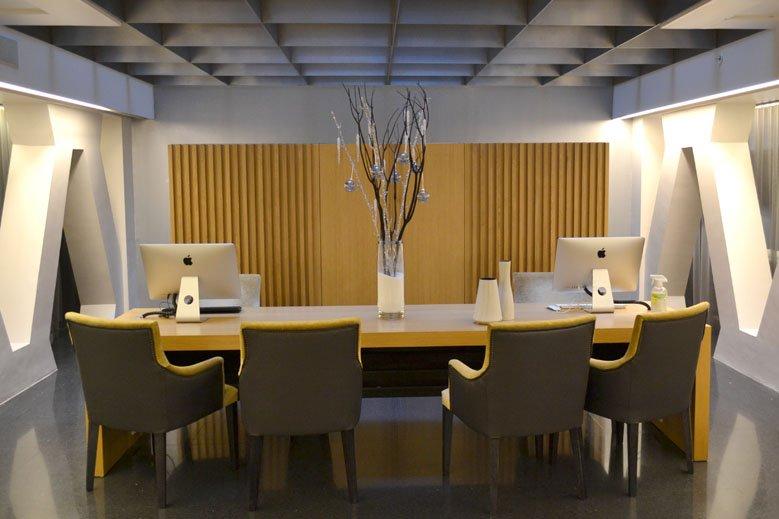 Decoración navideña minimalista hotel Paseo de Gracia Barcelona