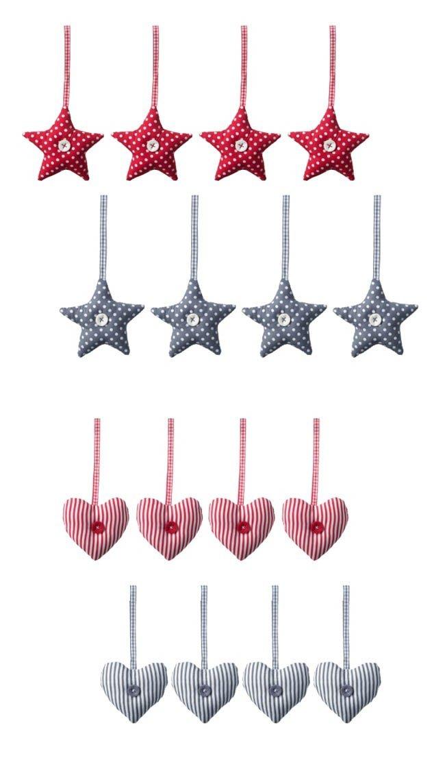 Ikea Nadal 2012 - Decoracions arbres de Nadal - Estrelles i cors