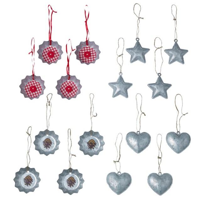 Ikea Navidad 2012 - Decoraciones árboles de Navidad - Estrellas y corazones